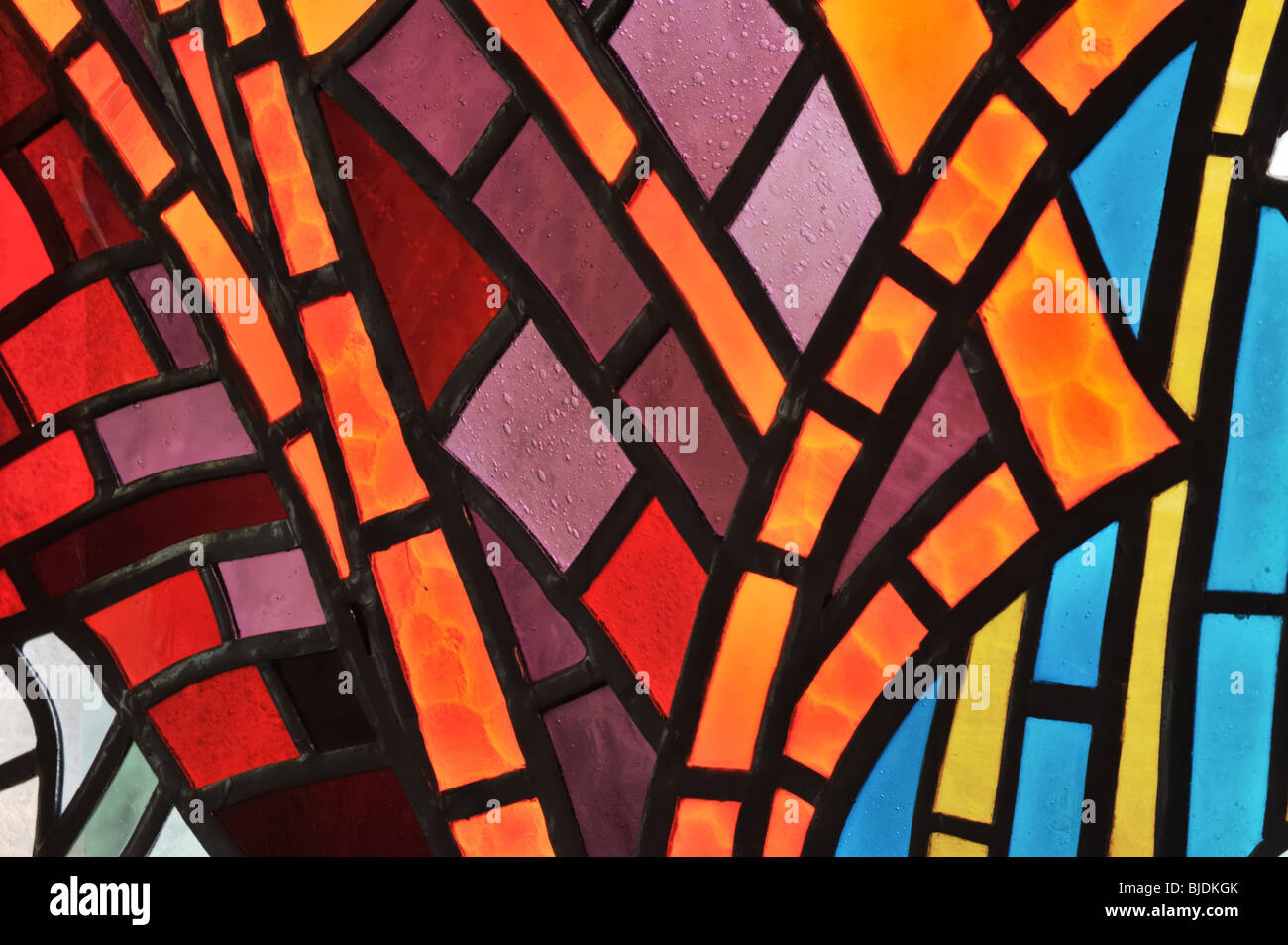 Stained glass window - detail - church Stock Photo