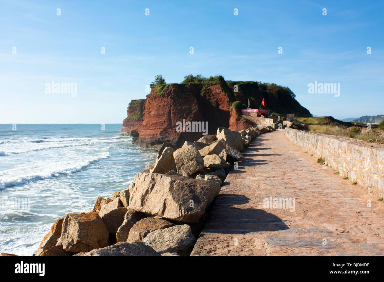 Langstone Rock, Red Rock Beach, Dawlish England UK - Stock Image