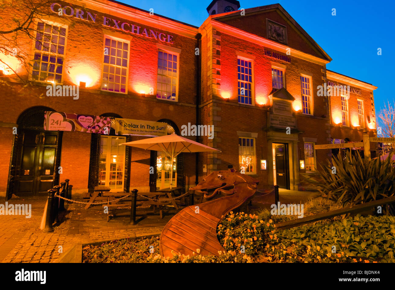 The former Corn Exchange, now the Flax and Firkin pub, in Preston, Lancashire, England - Stock Image