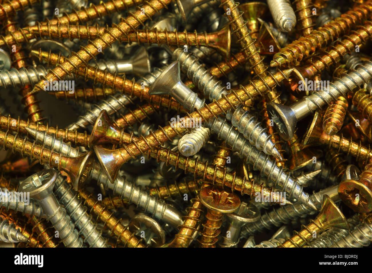 Chipboard screws Stock Photo