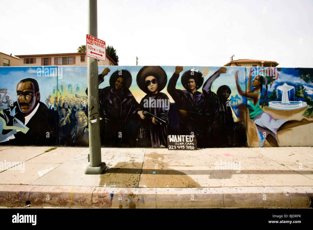 The Crenshaw Wall, Inglewood, Los Angeles County, California - Stock Image
