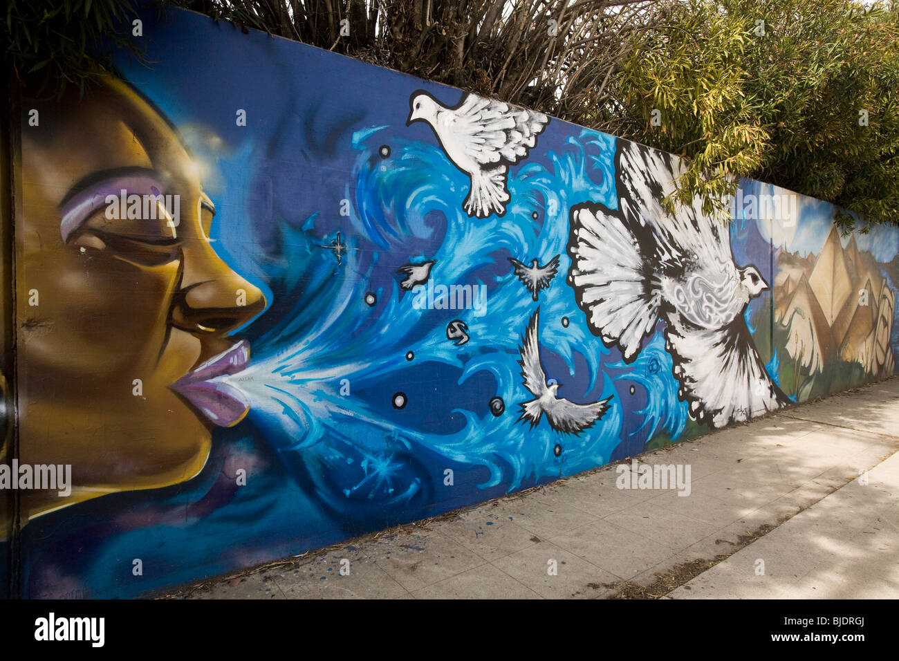 The Crenshaw Wall, Inglewood, Los Angeles County, California, United States of America - Stock Image