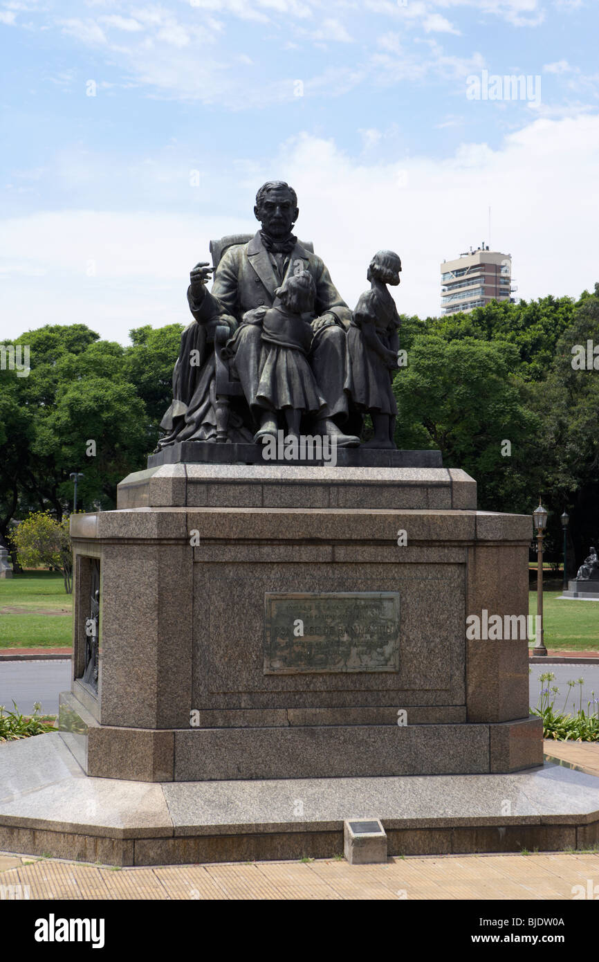 grandfather statue to don jose de san martin capital federal buenos aires republic of argentina south america - Stock Image