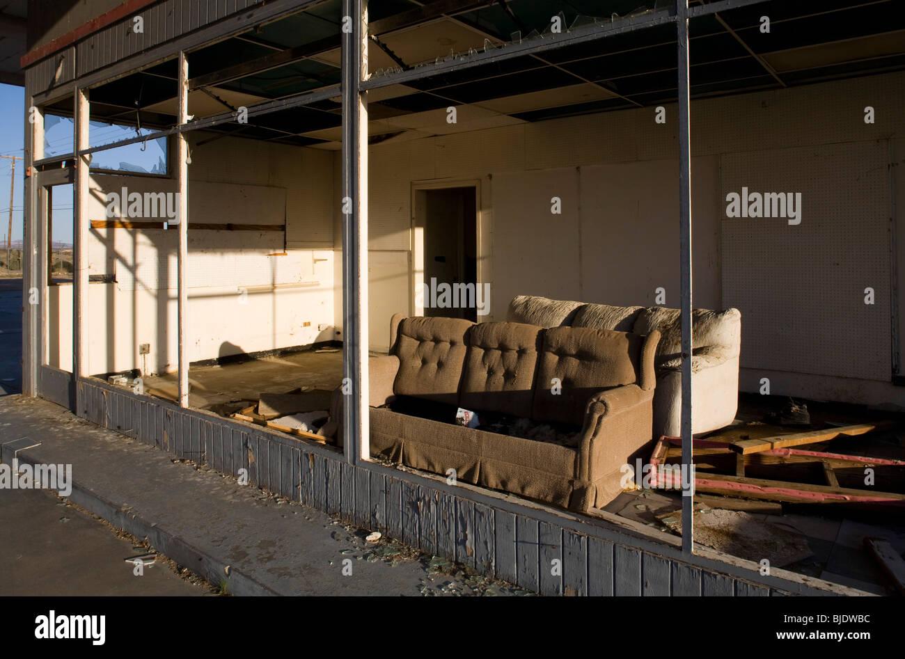 Abandoned Gas Station, Yermo, California, United States of America - Stock Image
