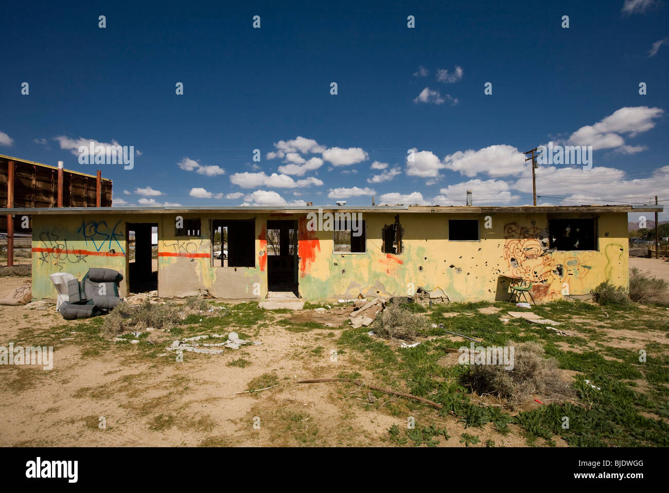 Abandoned Shack Yermo, California, United States of America - Stock Image