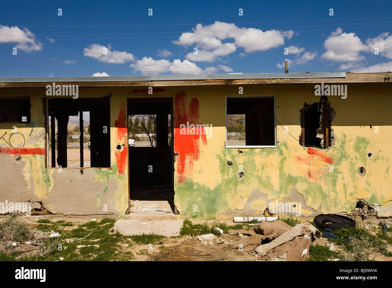 Abandoned Shack, Yermo, California, United States of America - Stock Image