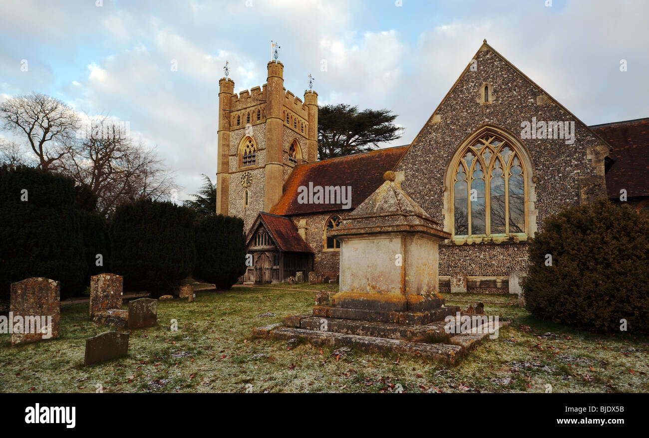 Hambleden Village Church Buckinghamshire England UK - Stock Image