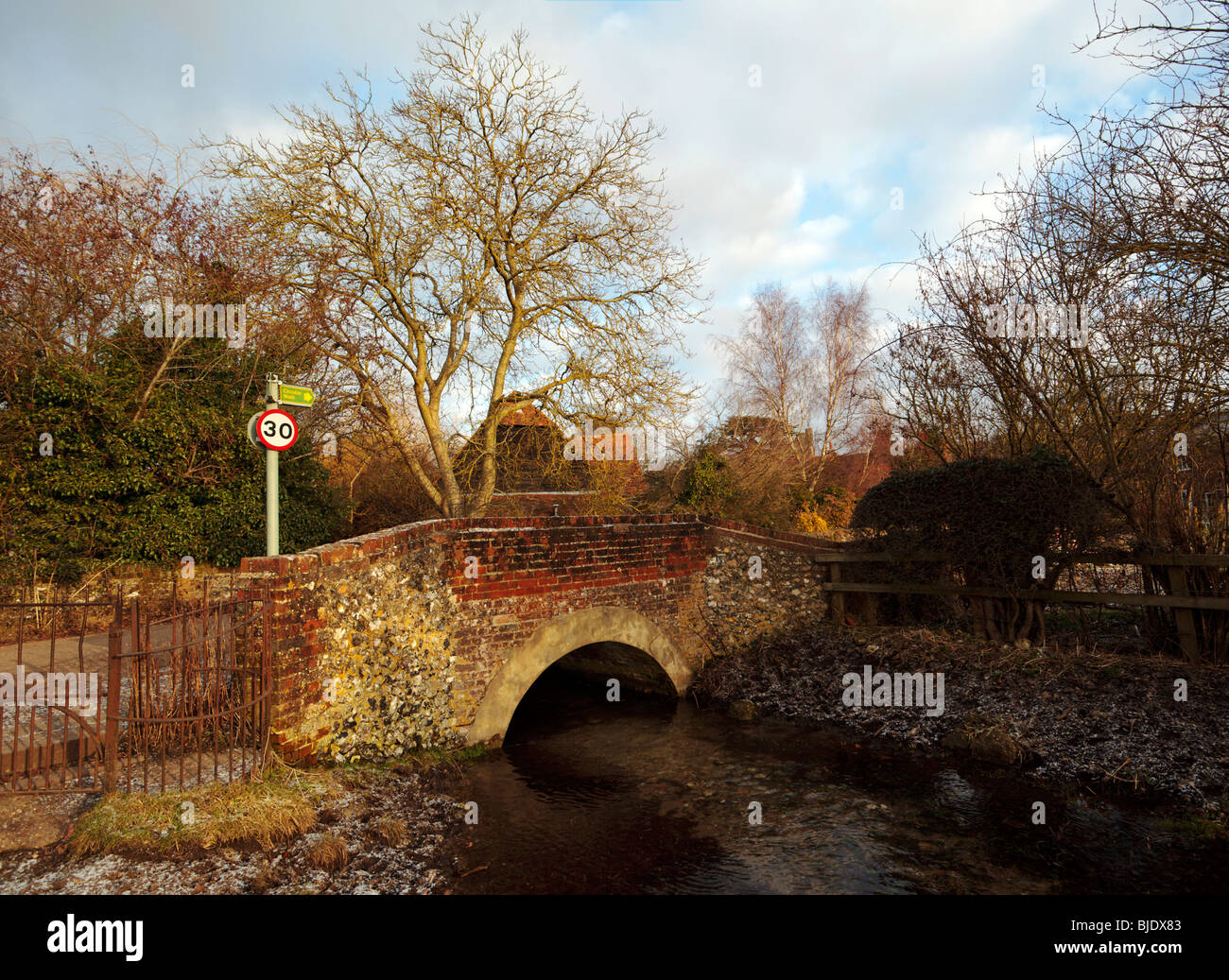 Hambleden Village bridge Buckinghamshire England UK - Stock Image