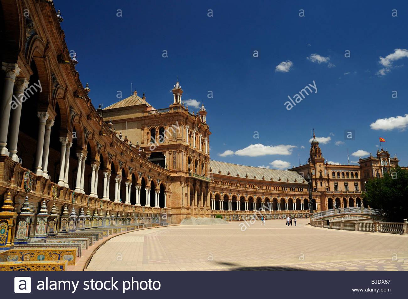 The Plaza de España, Spain, with the main - Stock Image