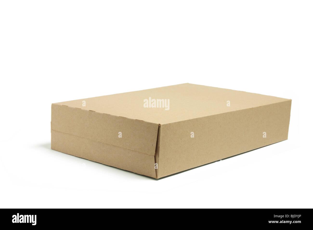 Brown Cardboard Box - Stock Image
