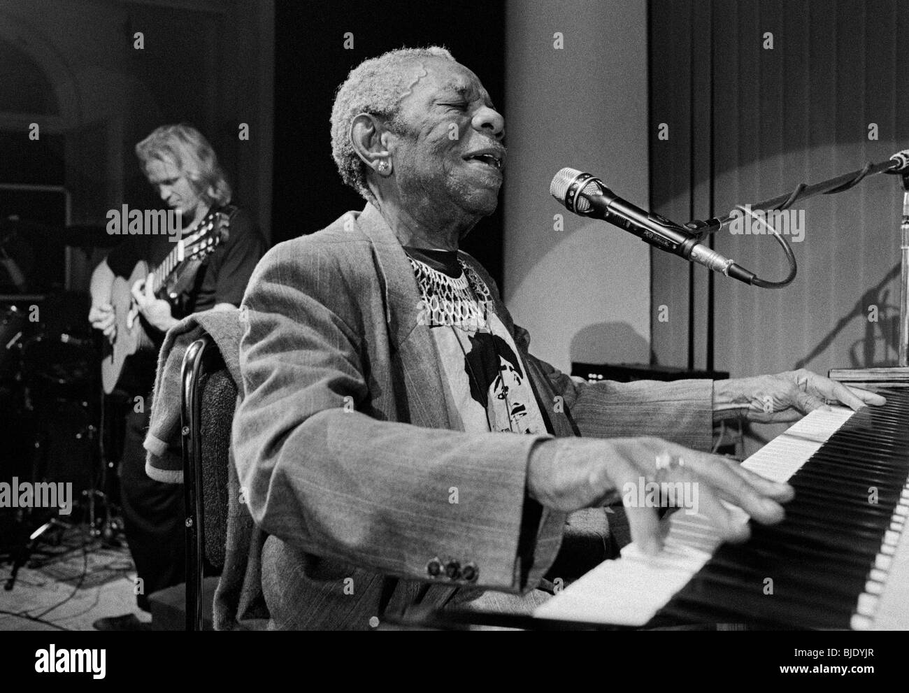 Champion Jack Dupree Blues Singer And Pianist From New Orleans After A Concert 1991 Schwerin Mecklenburg Western Pomerania