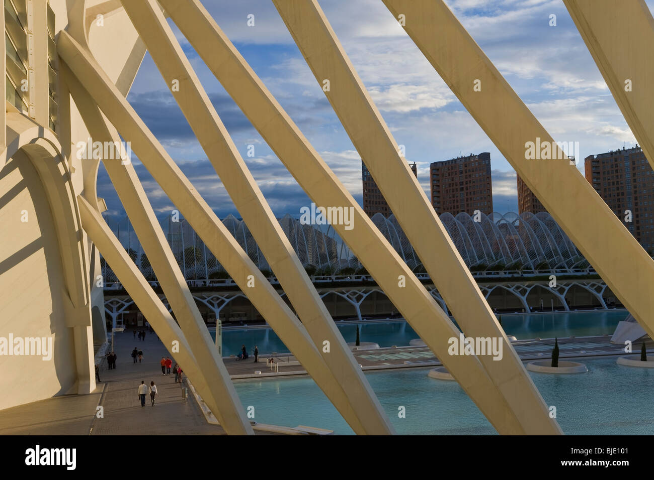 City of Arts and Sciences building,a combined science planetarium oceanographic park and arts centre, Valencia, - Stock Image