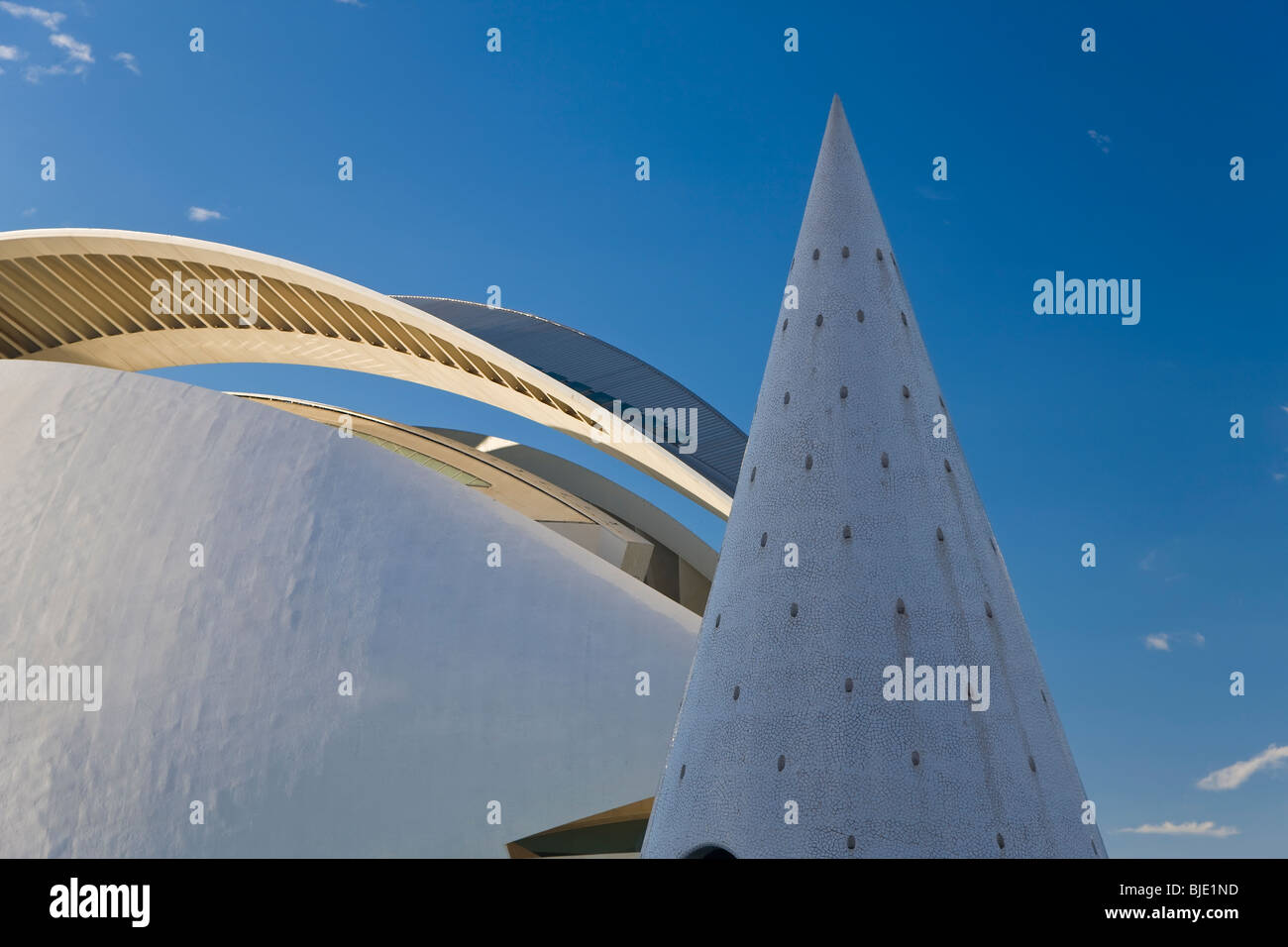 City of Arts and Sciences building, a combined science museum, planetarium, oceanographic park and arts centre, - Stock Image