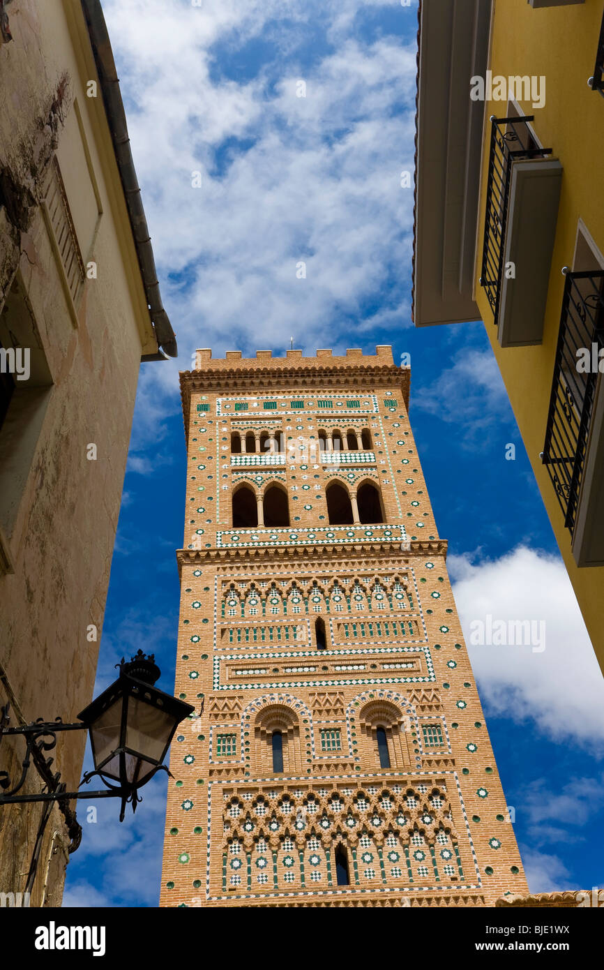 Torre del Salvador Mudejar tower, Teruel, Aragón Spain - Stock Image
