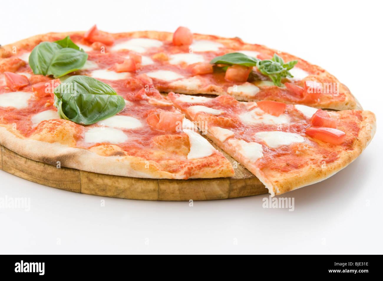 real and unique italian pizza - Stock Image