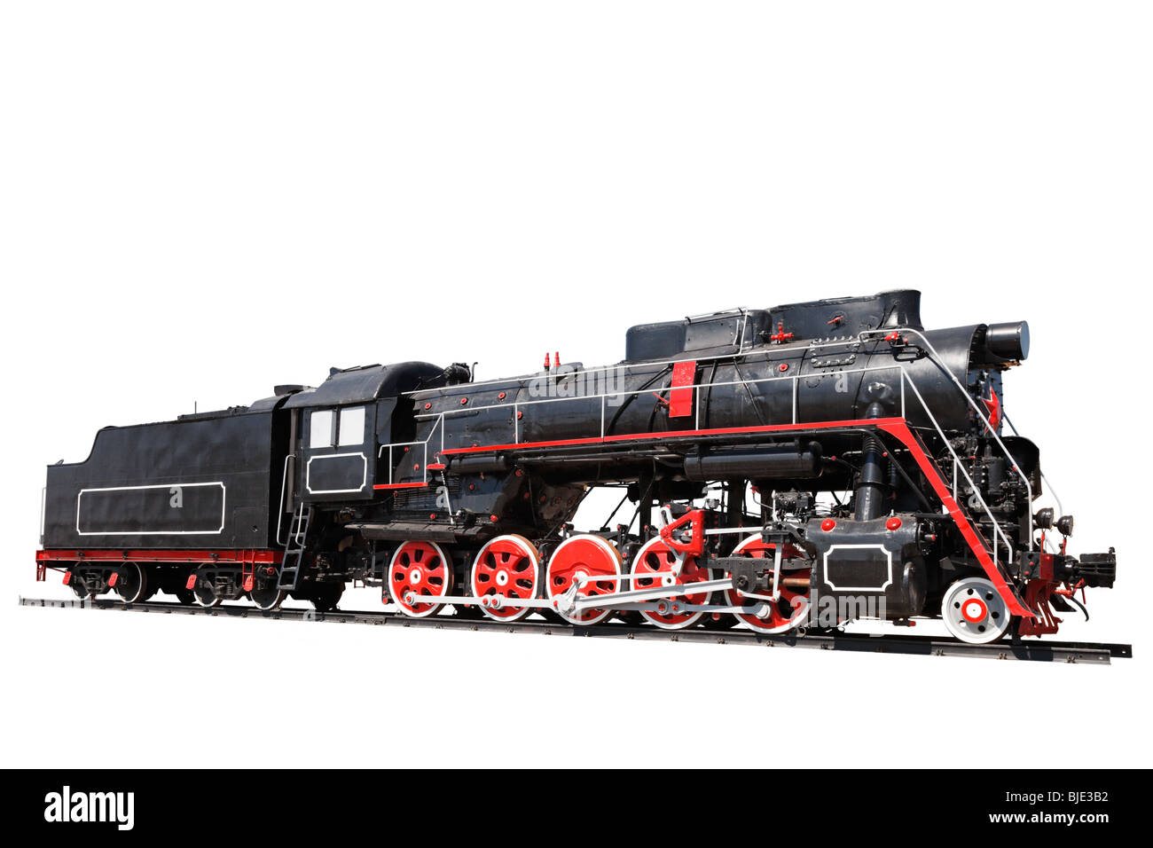 Old locomotive isolated - Stock Image