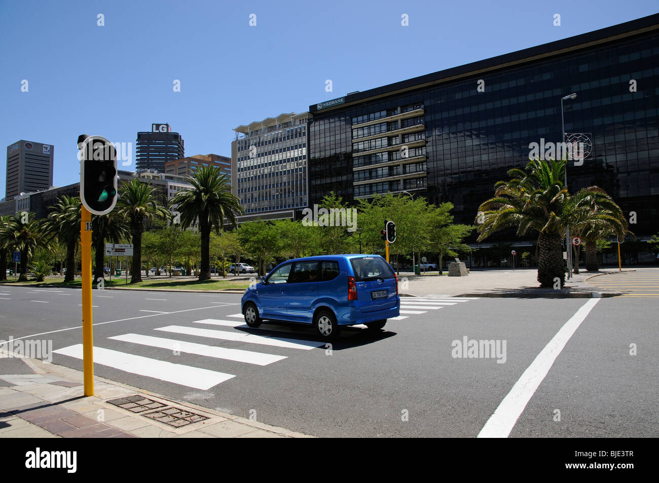 Nedbank and other office premises along Adderley Street in Cape Town's city centre. South Africa - Stock Image
