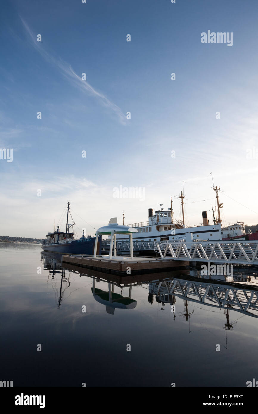 Heritage Wharf, Lake Union Park, Seattle Washington - Stock Image