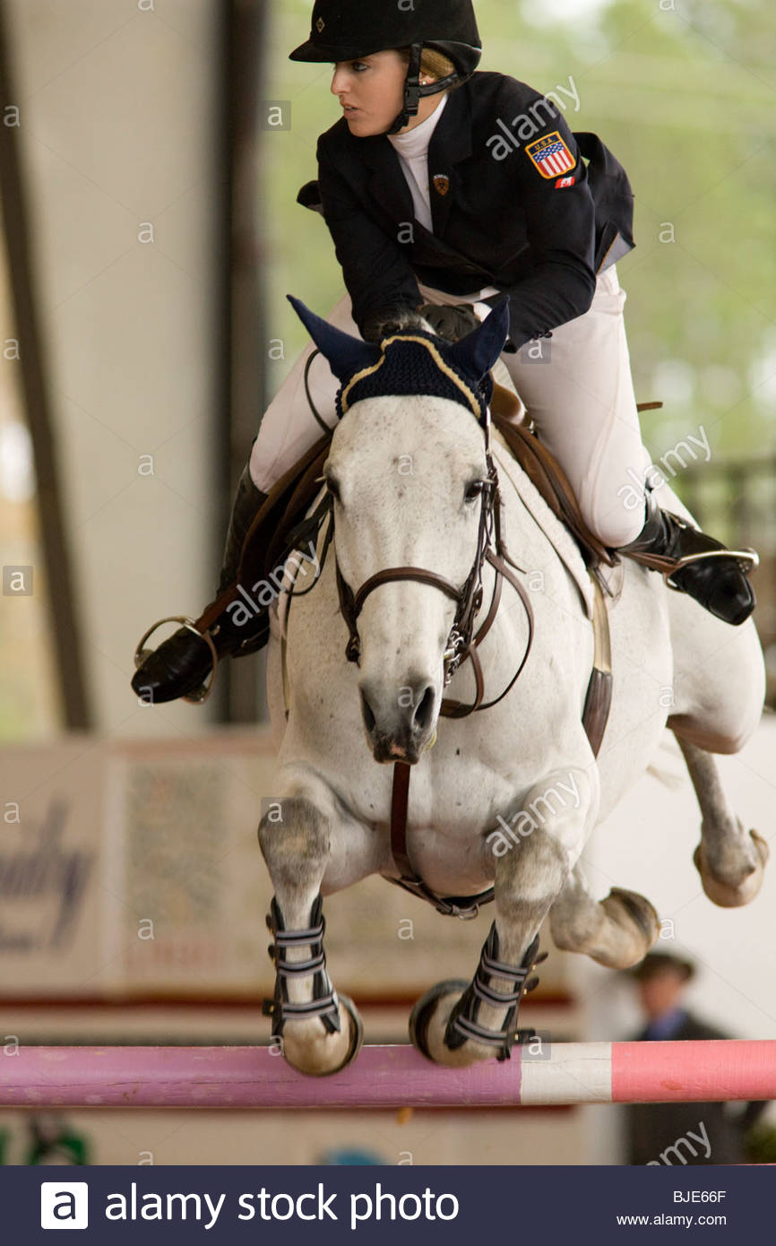 Hunter Jumper Equestrian Competition, Green Cove Springs, Florida - Stock Image