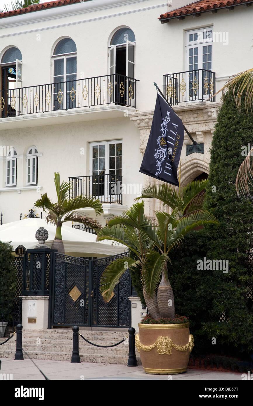 Casa Casuarina, the Gianni Versace mansion on Ocean Drive, South Beach, Miami Florida - Stock Image