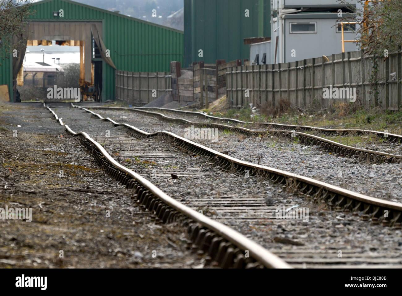 Old railway siding Greenwich London UK - Stock Image