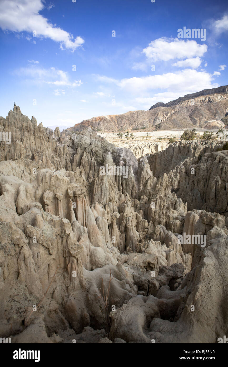 Eroded clay at the Valley of the Moon (Valle de la Luna) in La Paz Altiplano Andes Cordillera Real Bolivia South - Stock Image