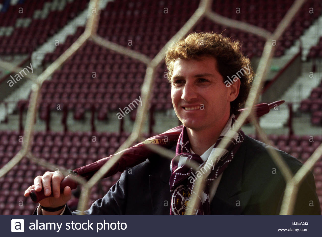 FEBRUARY 1996 TYNECASTLE - EDINBURGH Hearts keeper Gilles Rousset - Stock Image