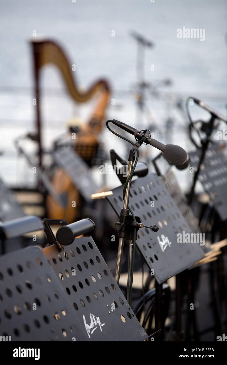 Europe, Italy, Piemonte, lake Maggiore, concerts, Stresa - Stock Image