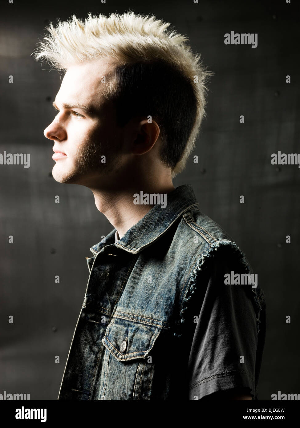 man with a mohawk - Stock Image