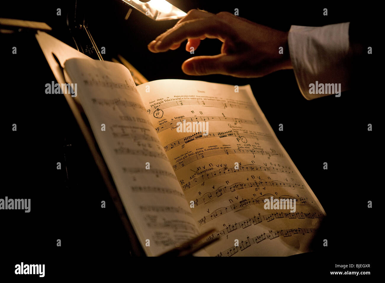 concerts, musical, scores - Stock Image