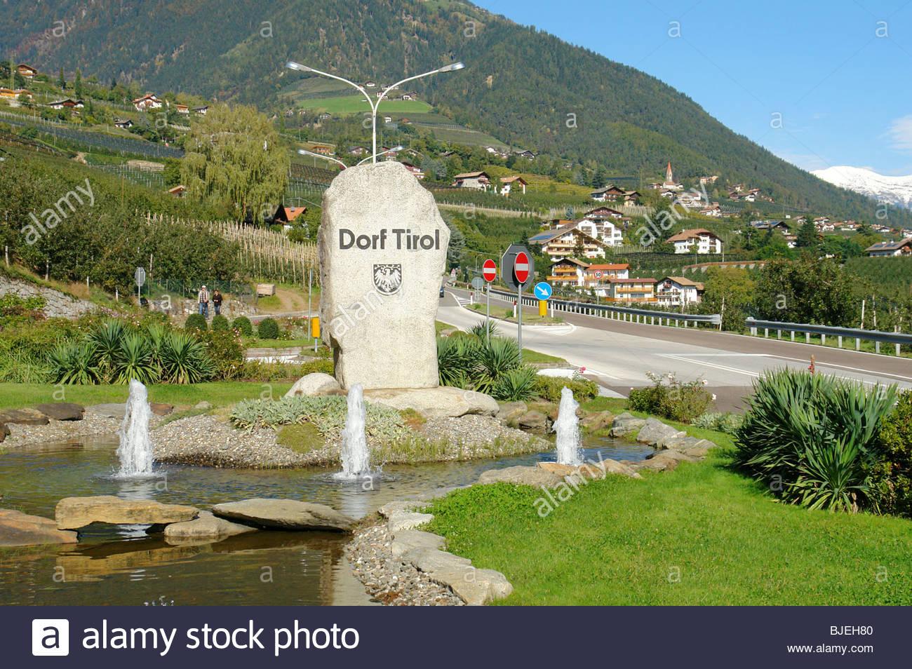 Dorf Tirol, South Tyrol, Italy - Stock Image