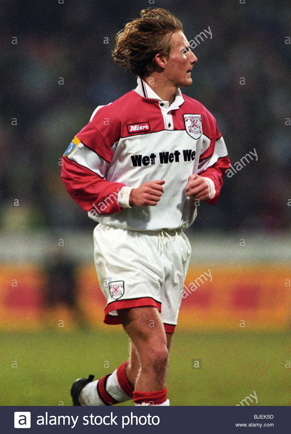 26/01/97 TENNENT'S SCOTTISH CUP 3RD RND CLYDEBANK V CELTIC (0-5) FIRHILL - GLASGOW Gary Teale in action for - Stock Image