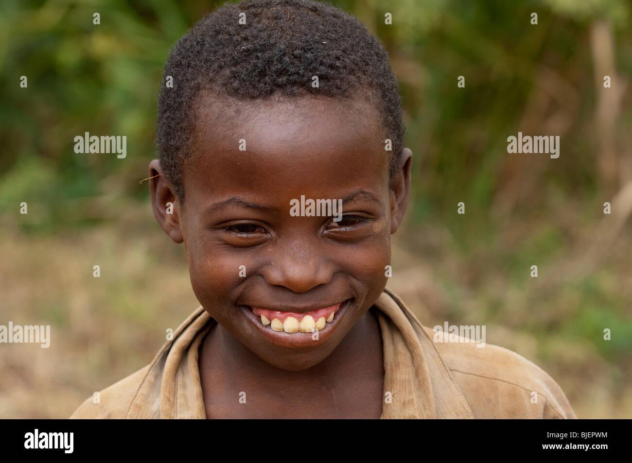 Smiling Rwandan child. Rwanda - Stock Image