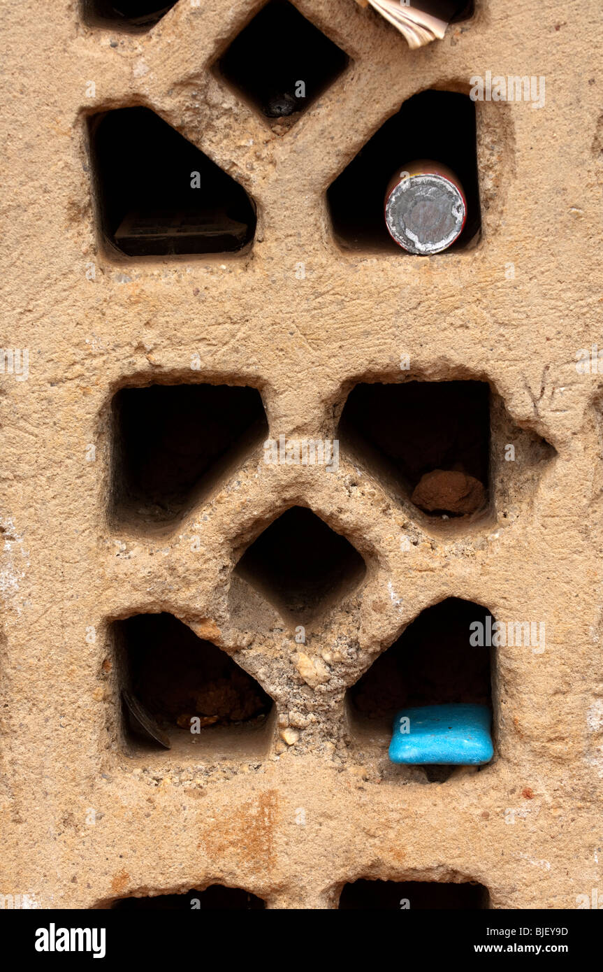 Family possessions in a window of house. Rwanda - Stock Image