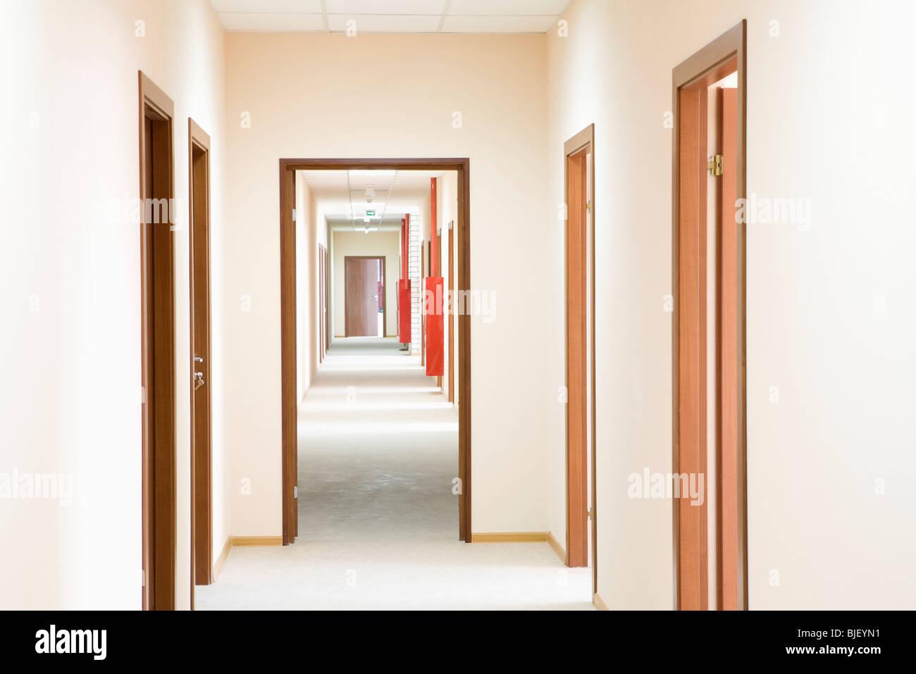 Corridor and doorframe, perspective - Stock Image
