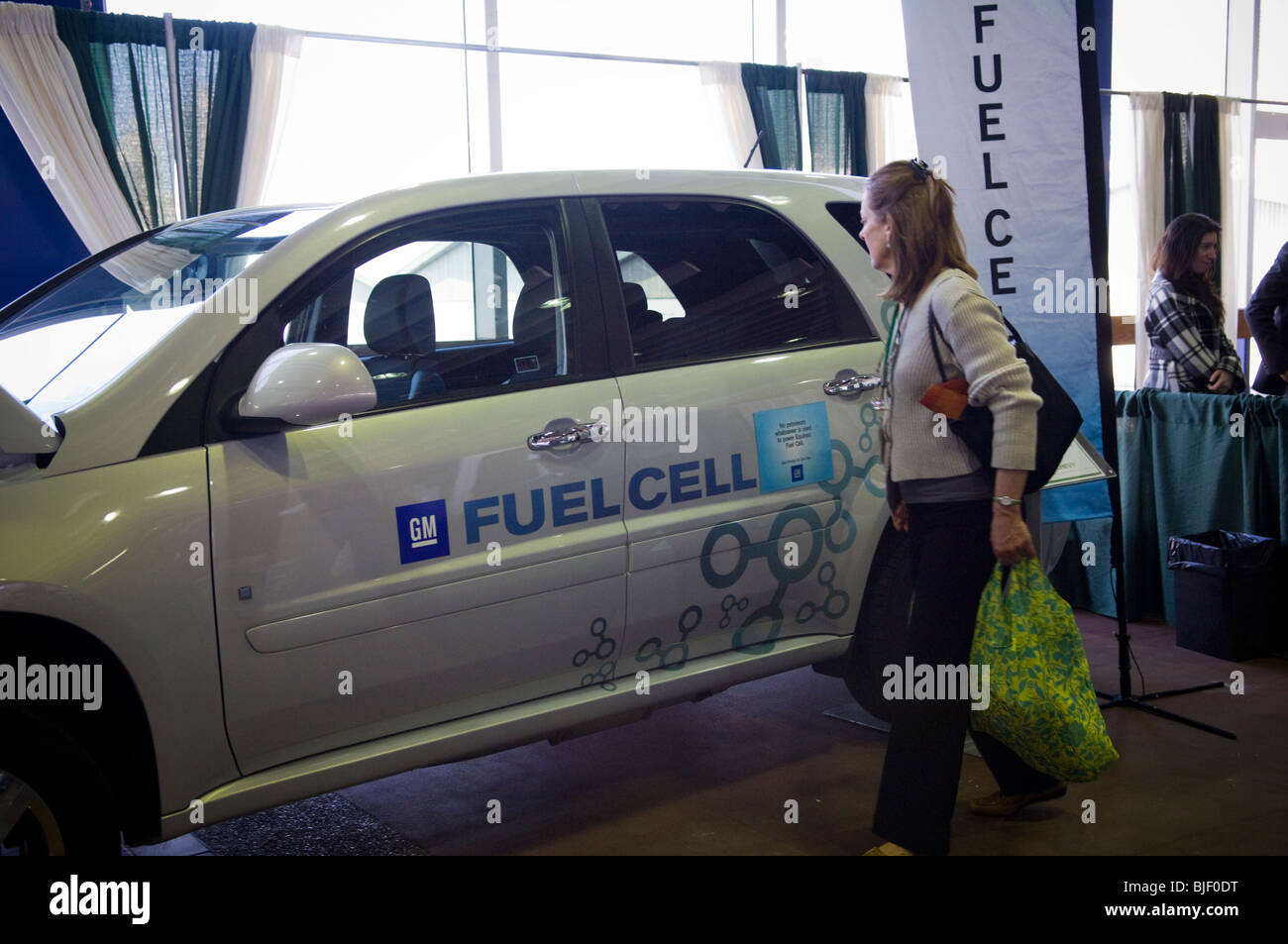 General Motors displays a Chevrolet Equinox Hydrogen Fuel Cell Vehicle at the Go Green Expo held in midtown in New - Stock Image