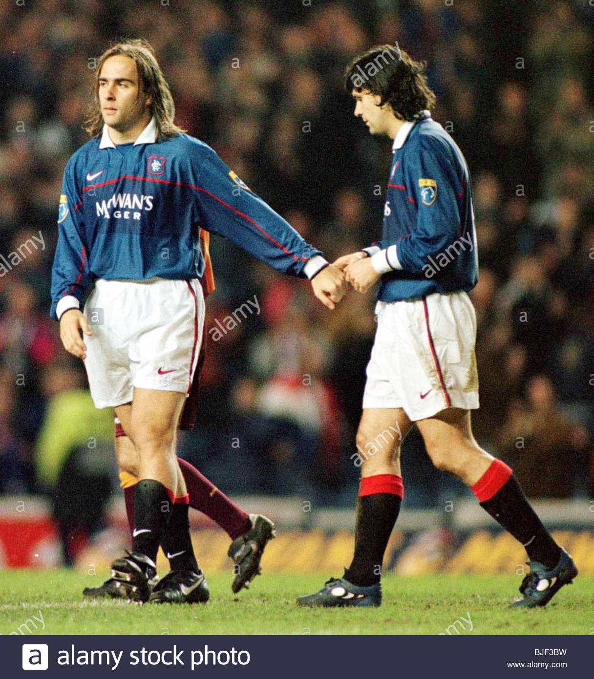 17/02/98 TENNENT'S SCOTTISH CUP 4TH RND REPLAY RANGERS V MOTHERWELL (3-0) IBROX - GLASGOW Rangers' Marco - Stock Image