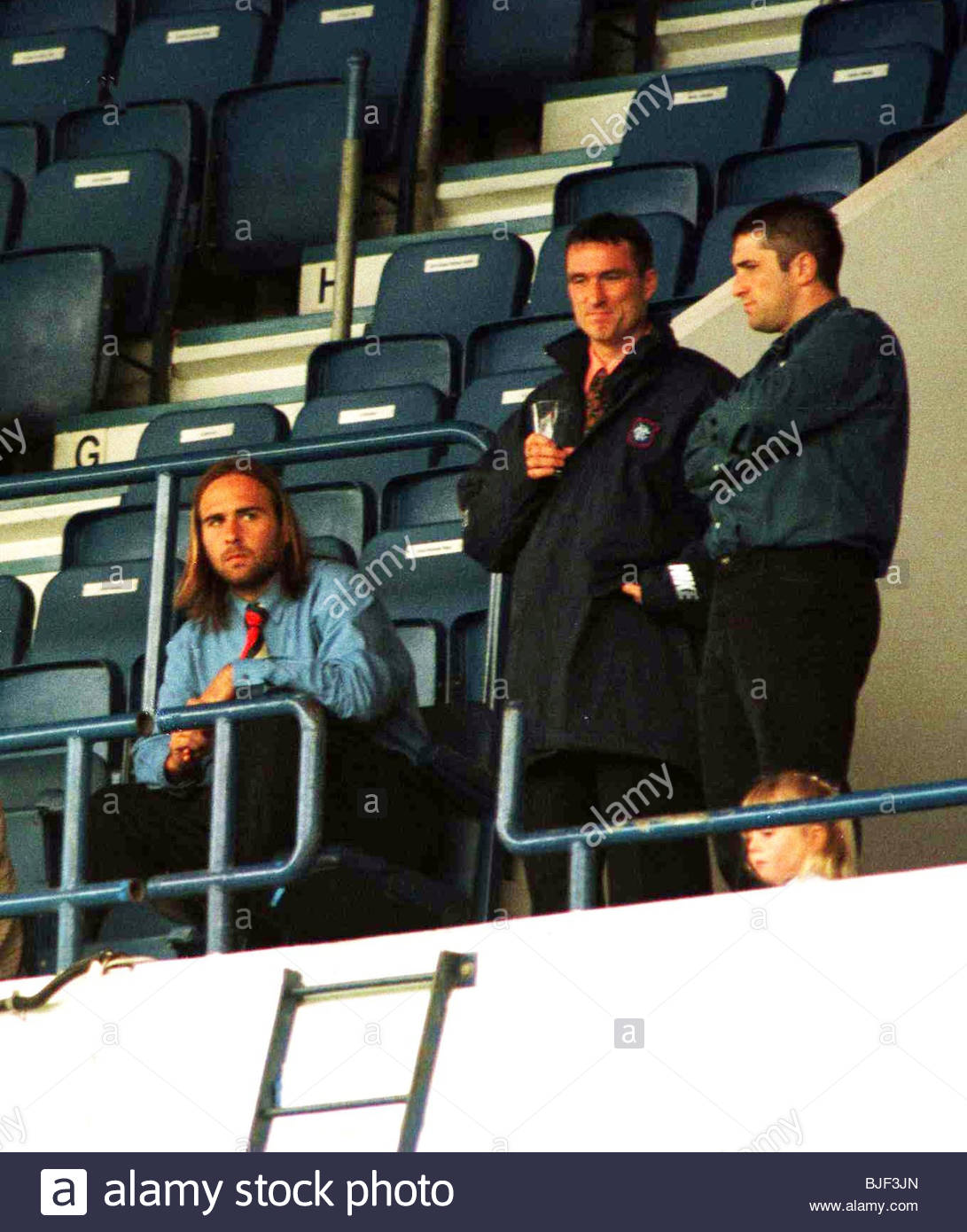 30/08/97 RESERVE LEAGUE RANGERS RESERVES V CELTIC RESERVES (1-1) IBROX - GLASGOW Sebastian Rozental (left) and Ian - Stock Image