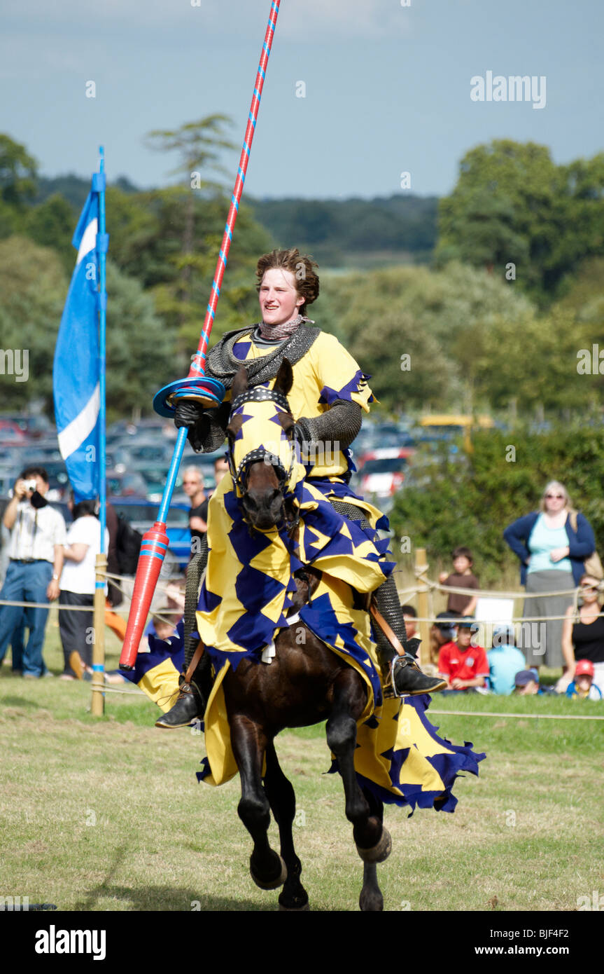 A man in a medieval Knight costume on a horse  sc 1 st  Alamy & A man in a medieval Knight costume on a horse Stock Photo: 28607014 ...