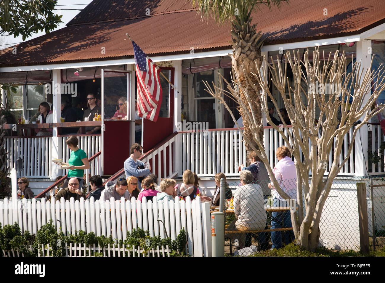 Poes Tavern Popular Restaurant On Sullivans Island Near Stock
