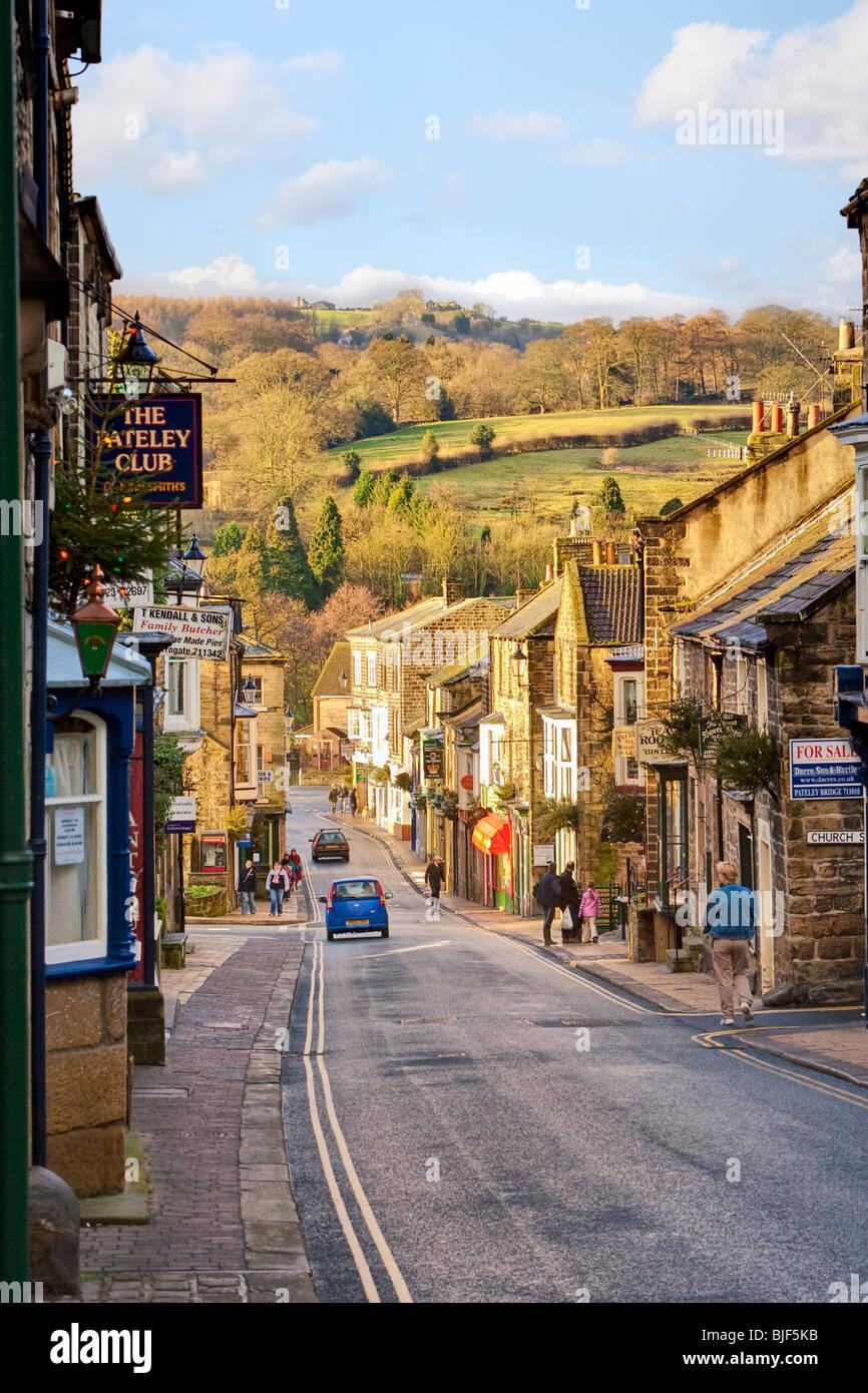 Yorkshire Dales town of Pateley Bridge, Nidderdale, Yorkshire Dales, England UK - Stock Image