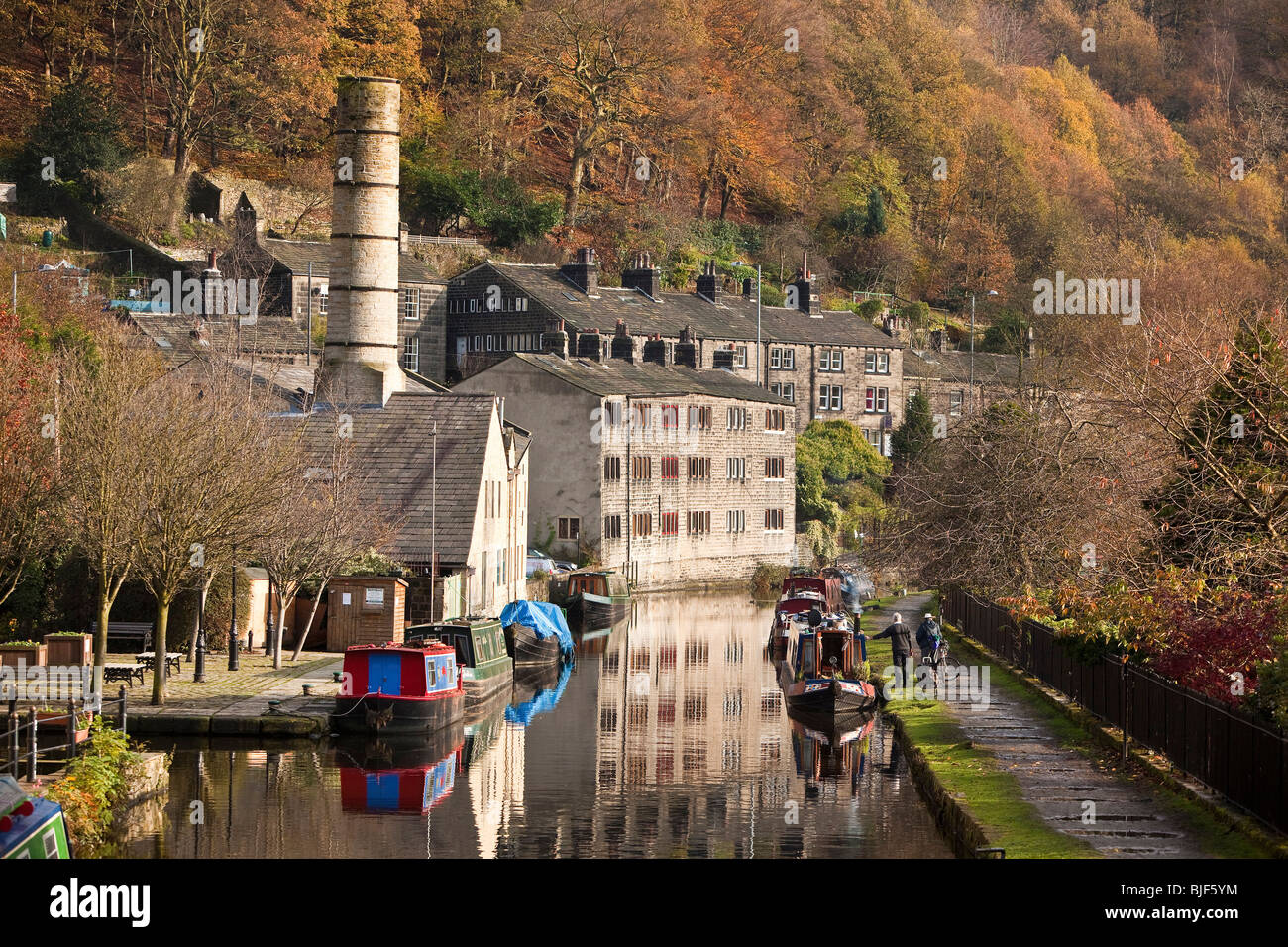 The Rochdale Canal, Hebden Bridge, Halifax, Yorkshire - Stock Image
