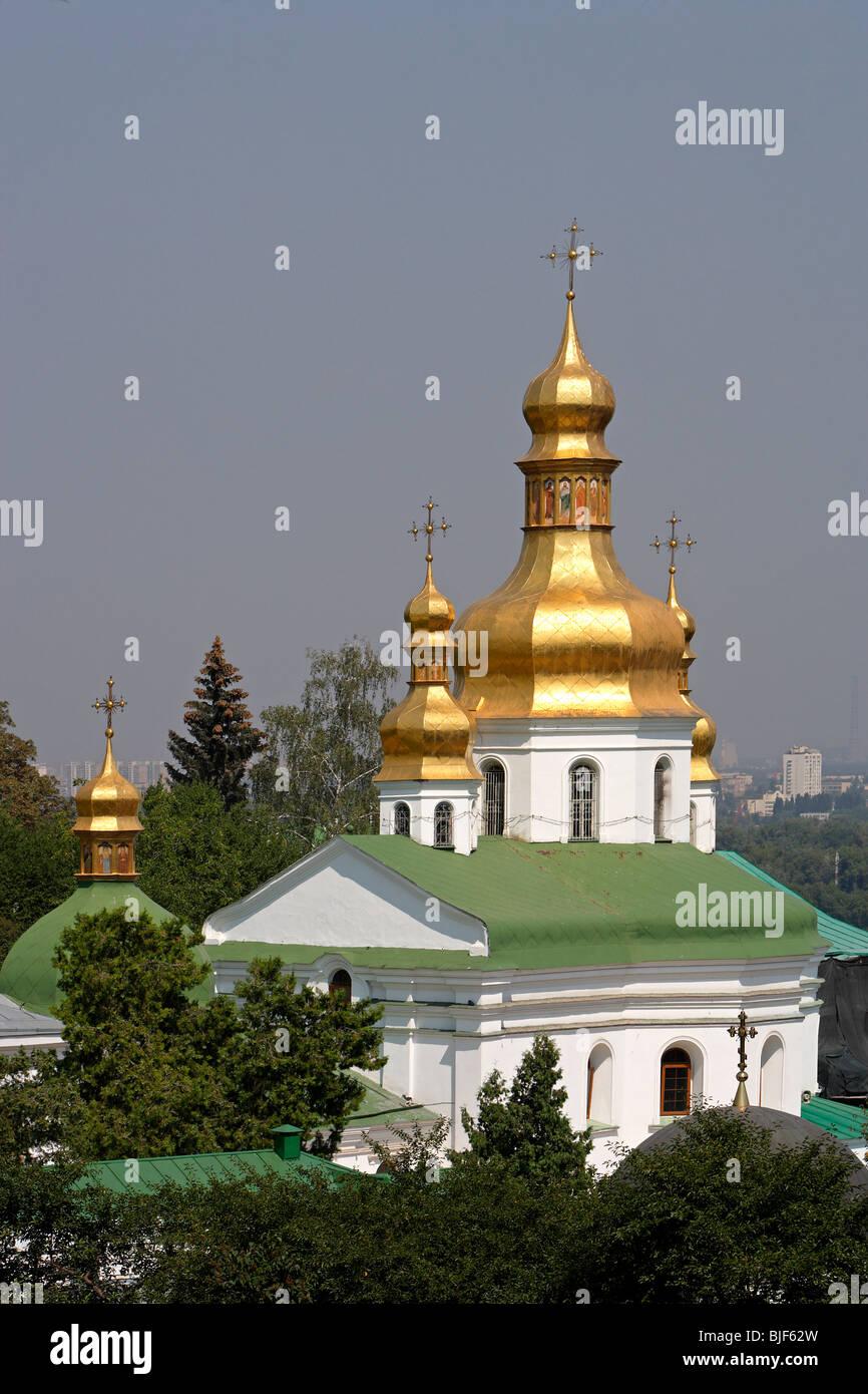 Kiev-Pechersk Lavra,Church of the Elevation of the Cross ,1700,Kiev,Ukraine - Stock Image