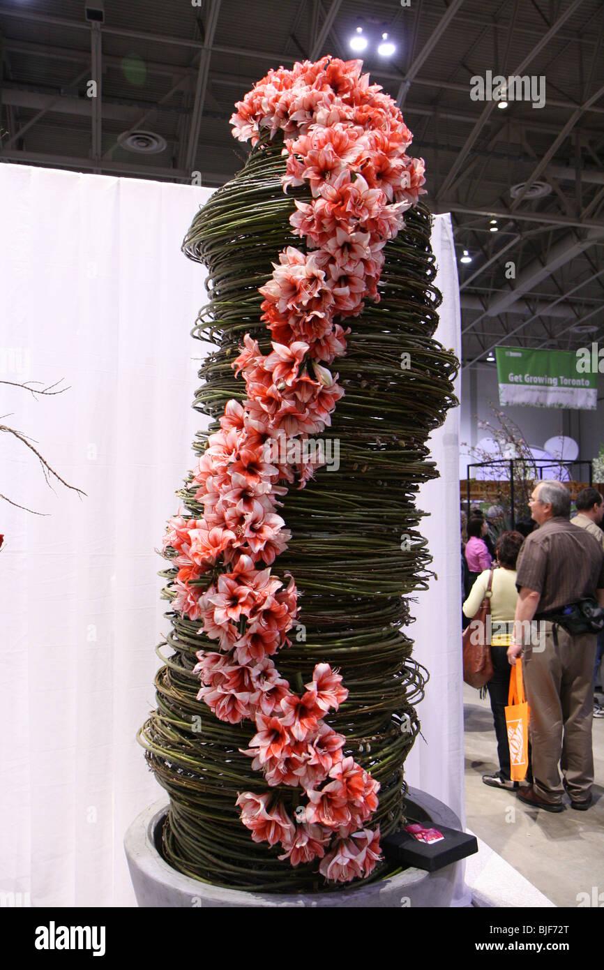 Tiger Lily Flower Arrangement Tall Huge Big Stock Photo