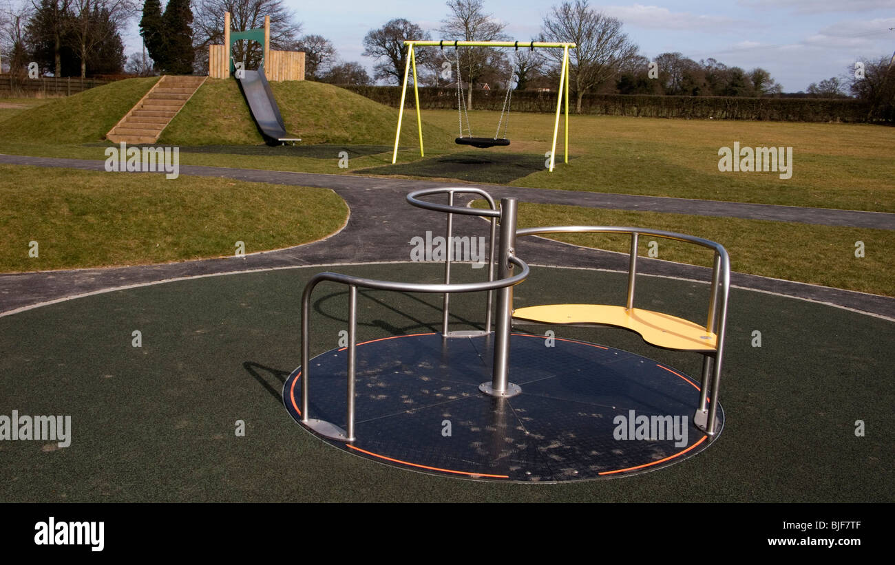 Overall view of children playground - Stock Image