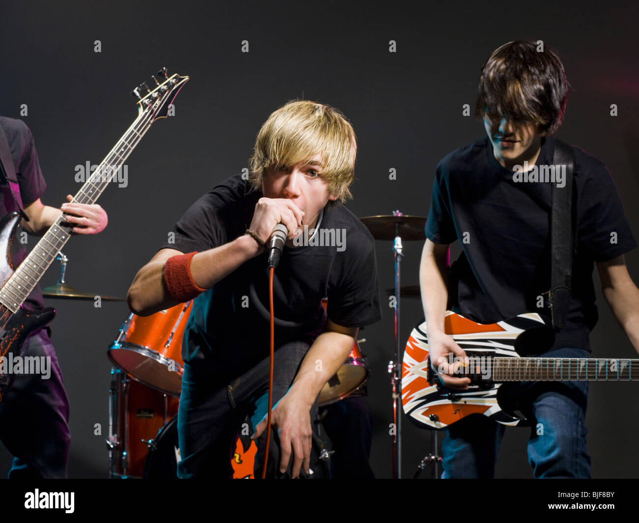 teenage rock band - Stock Image