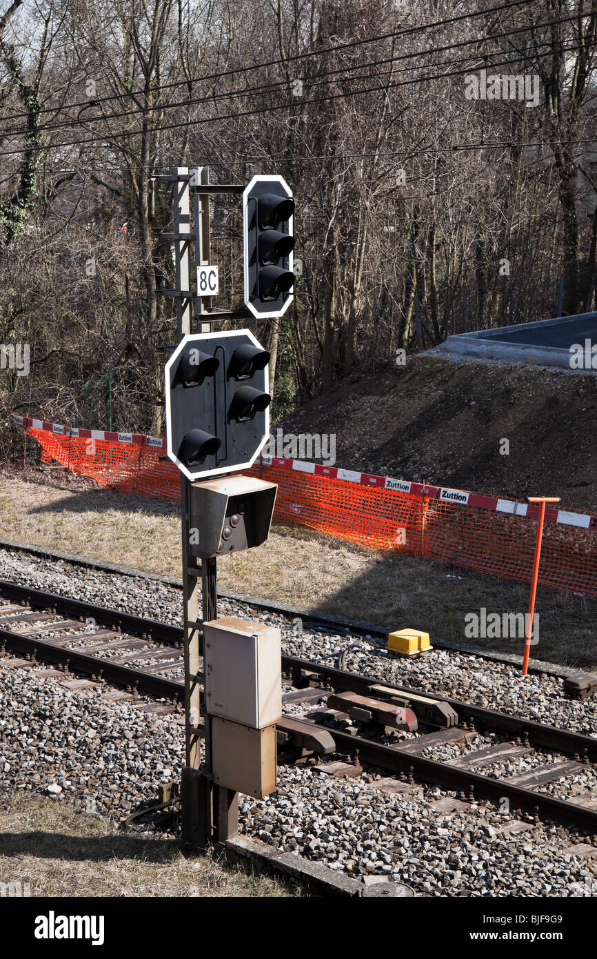 Train Light Signal Stock Photos & Train Light Signal Stock
