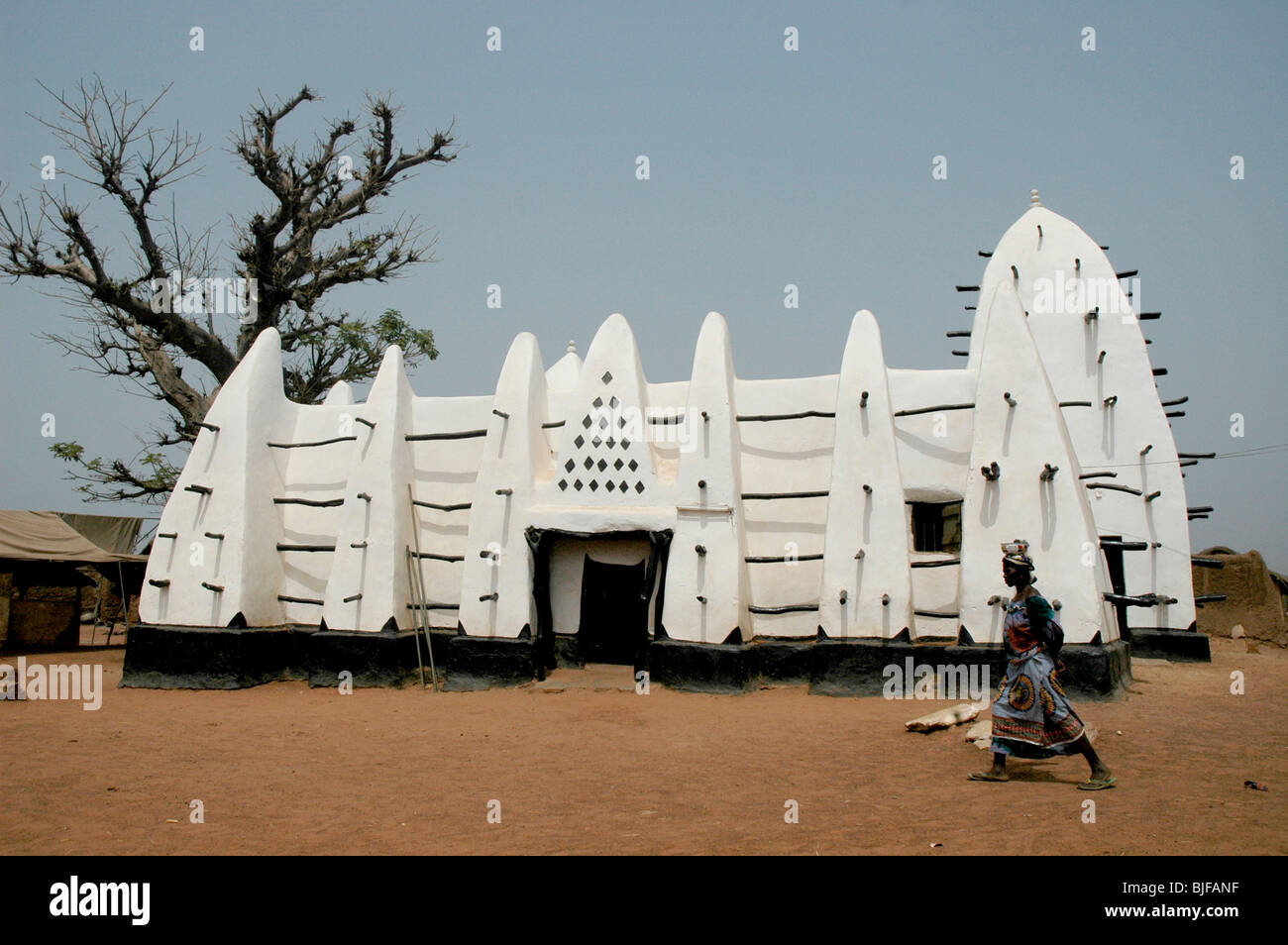 Mosque, Northern Ghana, West Africa, Africa - Stock Image