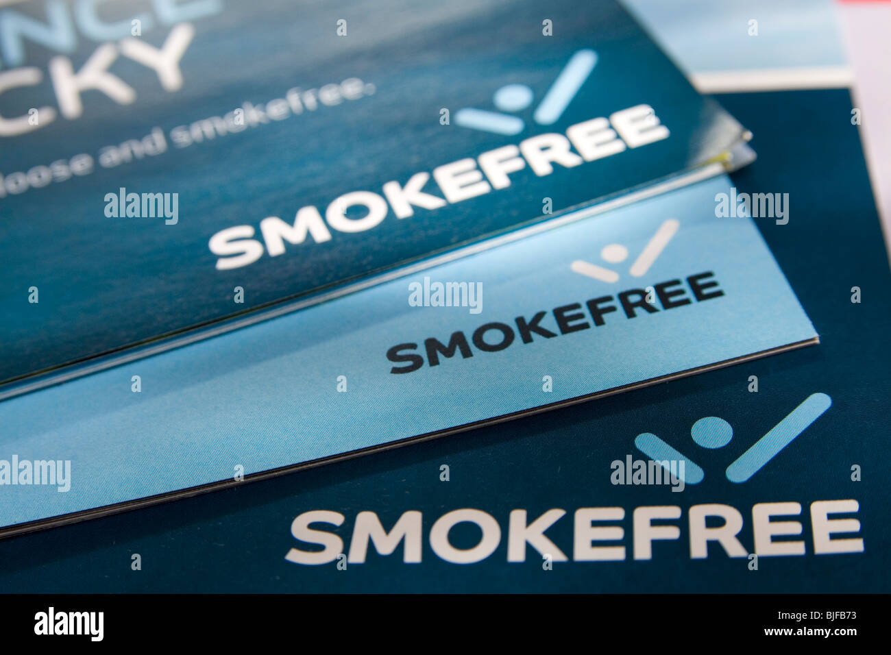 NHS Smoke Free Campaign booklets - Stock Image