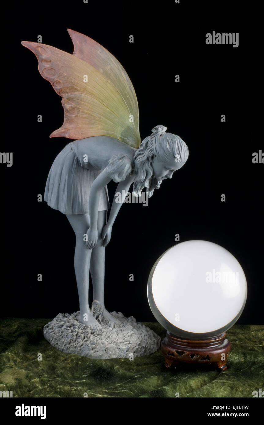 Fairy and Crystal ball - Stock Image